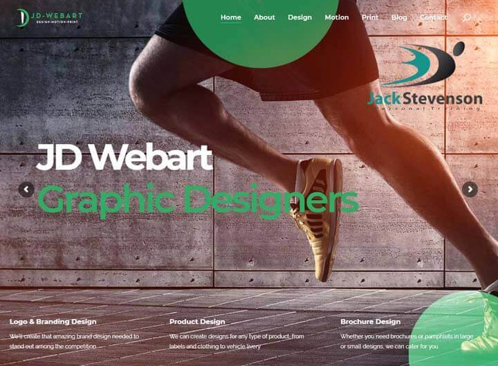JD Webart website redesign