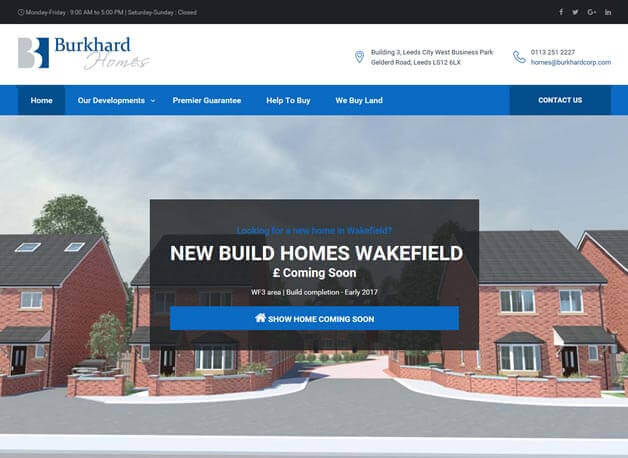 Burkhard Homes website redesign