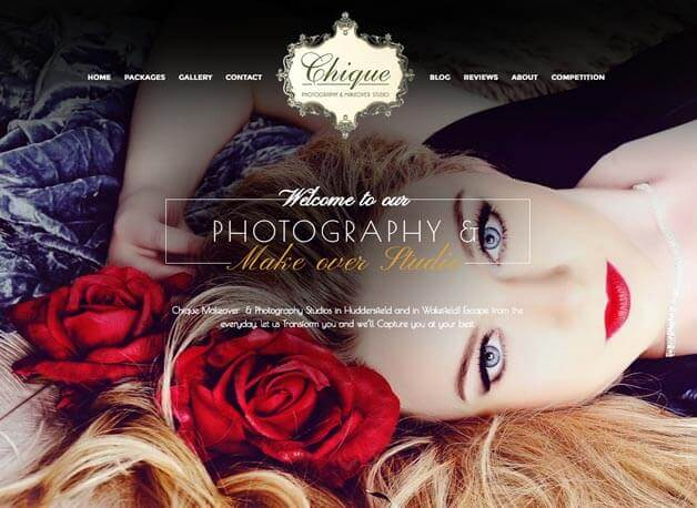 Chique Photography website redesign