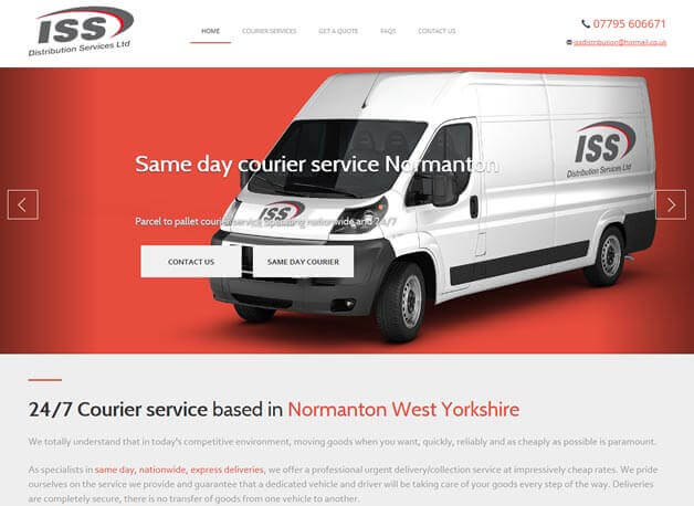 ISS Distribution website redesign