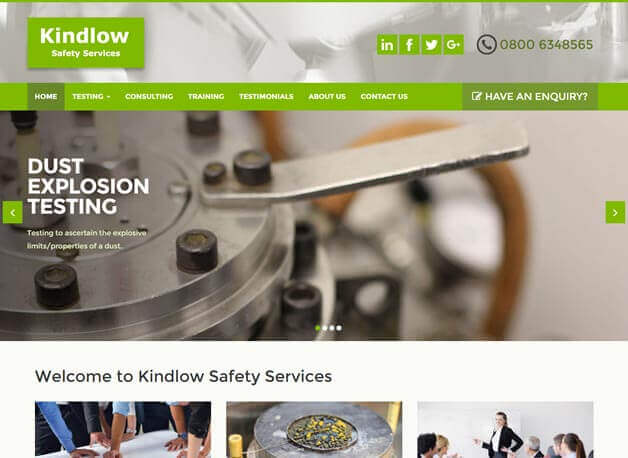 Kindlow Safety Services website redesign