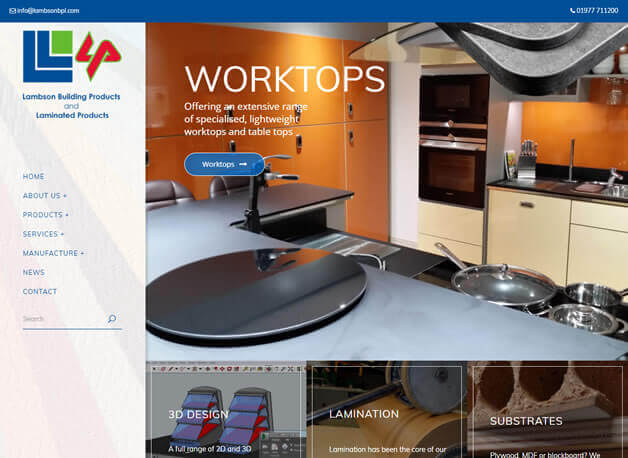 Lambson Building Products website redesign