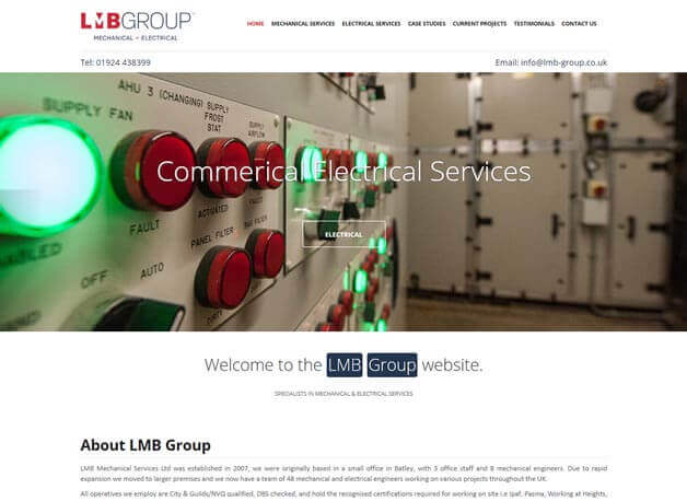 LMB Group website redesign