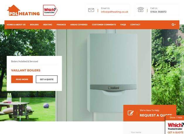 PDL Heating website redesign