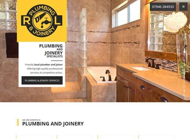 RL Plumbing and joinery website design