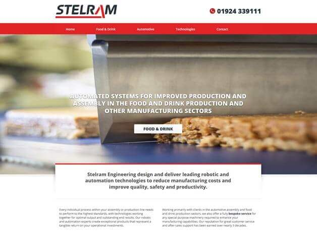 Stelram website redesign