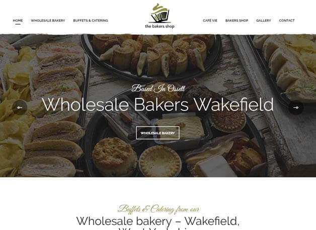 The Bakers Shop Ossett website redesign