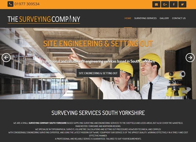 The Surveying Company website redesign