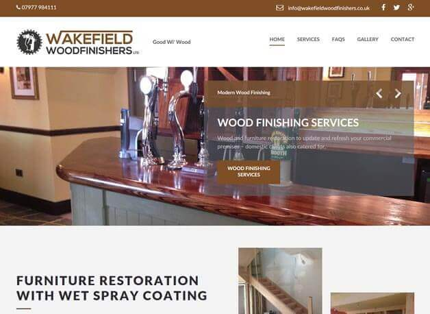 Wakefield Woodfinishers website design