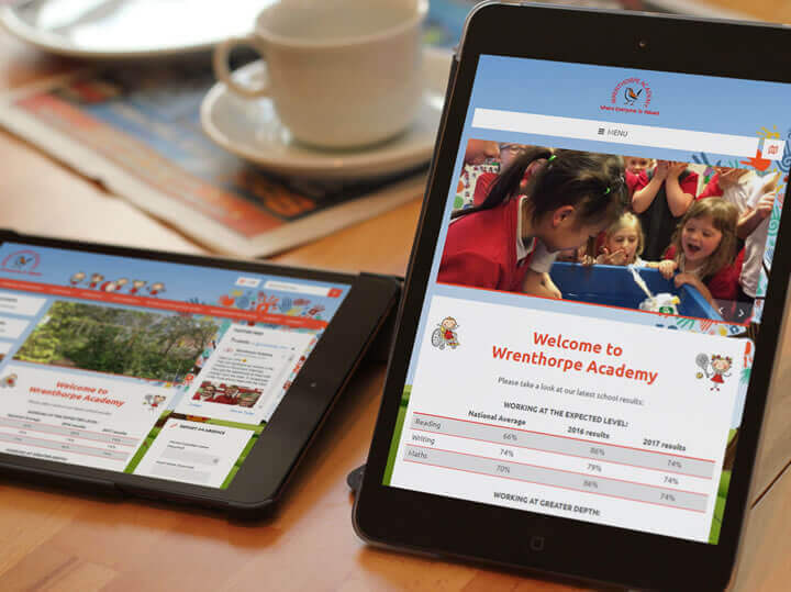 Wrenthorpe Academy school website design